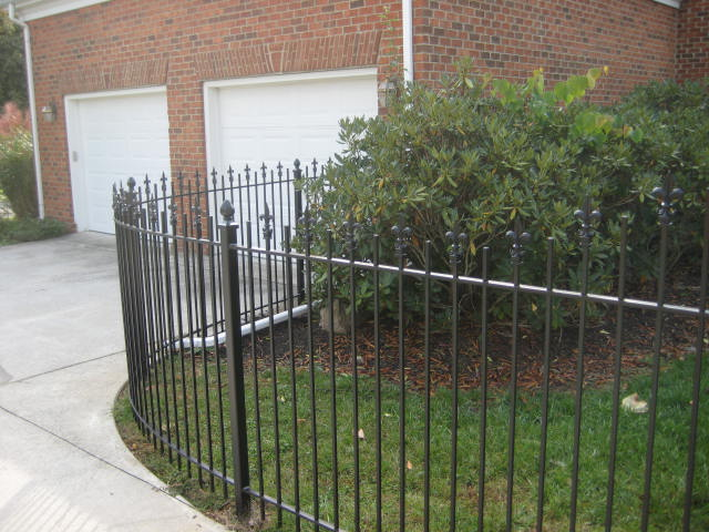 Custom curved iron fencing