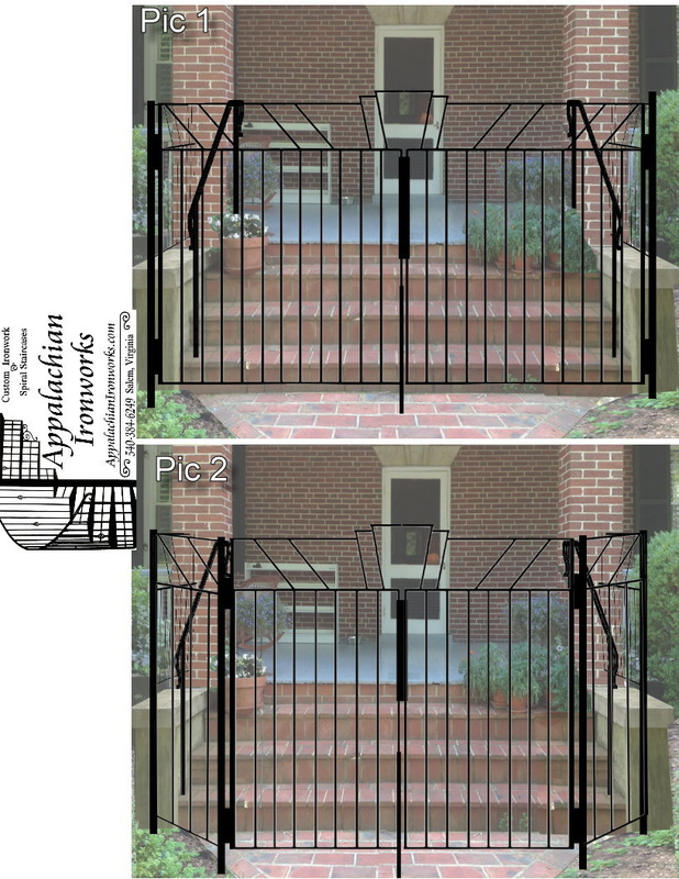 Digital Drawing estimate of a pedestrian gate