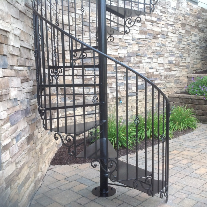 decorative steel spiral staircase
